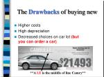 the drawbacks of buying new
