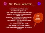 st paul wrote