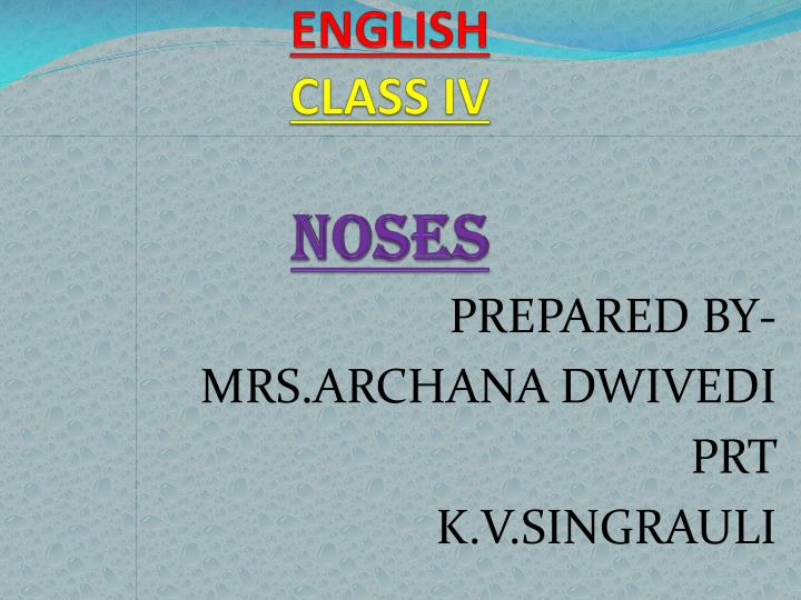 English class iv noses