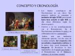 concepto y cronolog a