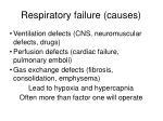 respiratory failure causes