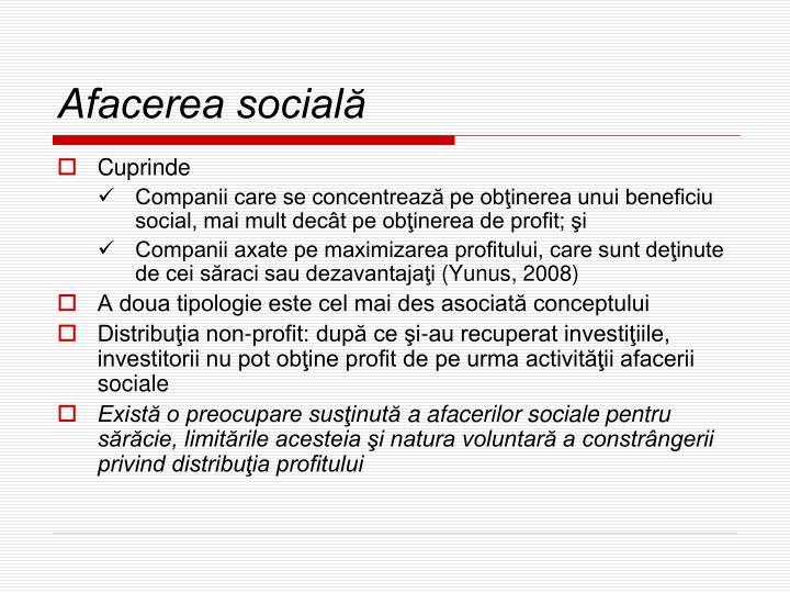 Afacerea socială