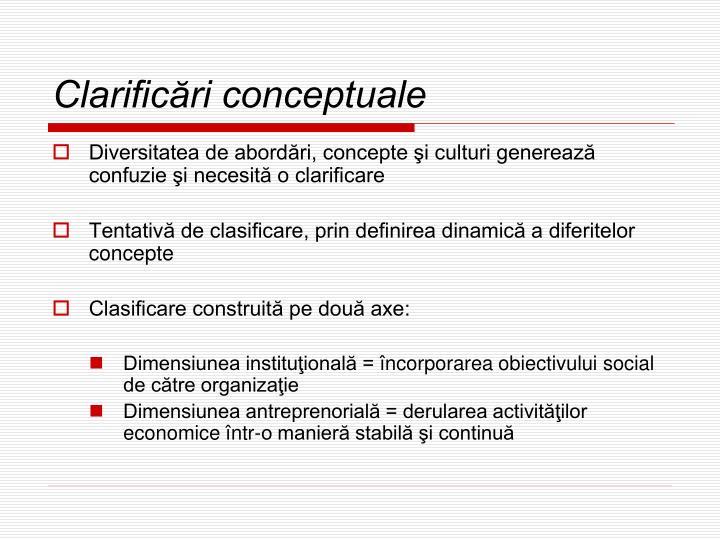 Clarificări conceptuale