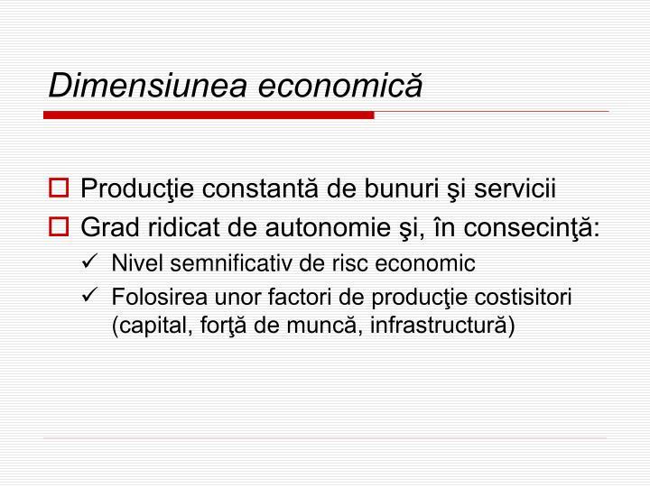 Dimensiunea economică
