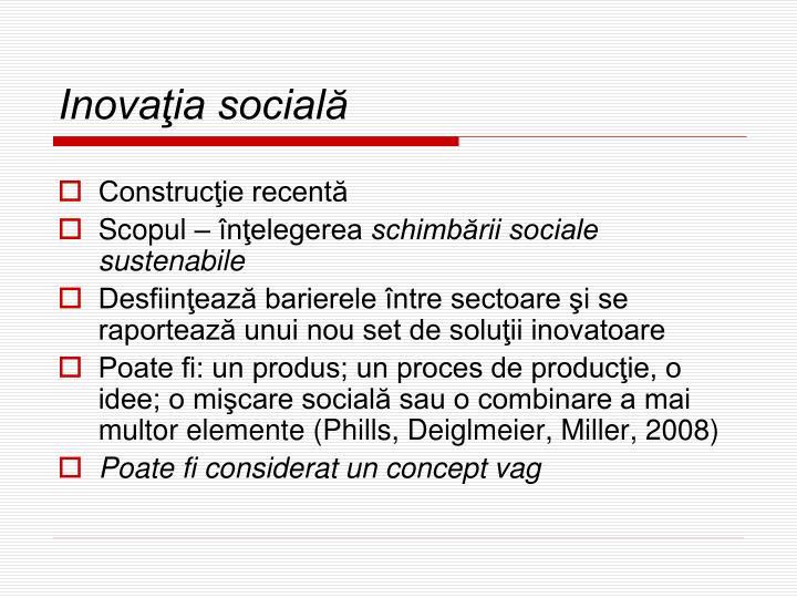 Inovaţia socială