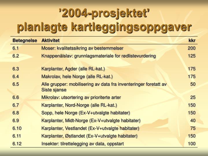 '2004-prosjektet'