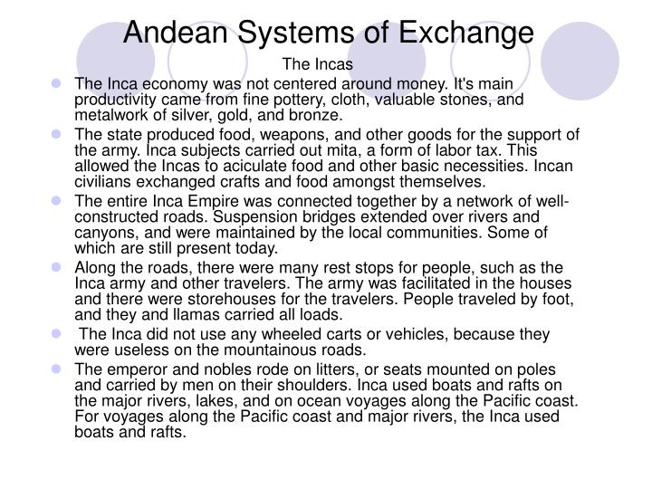 Andean systems of exchange