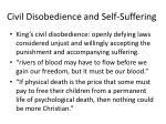 civil disobedience and self suffering