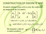 construction of discrete map