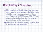 brief history 7 handling