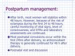 postpartum management