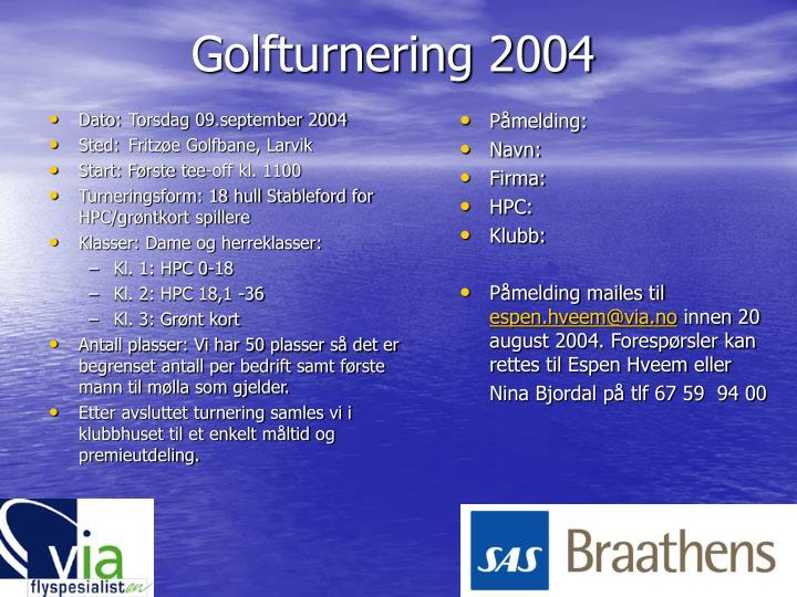 Golfturnering 2004