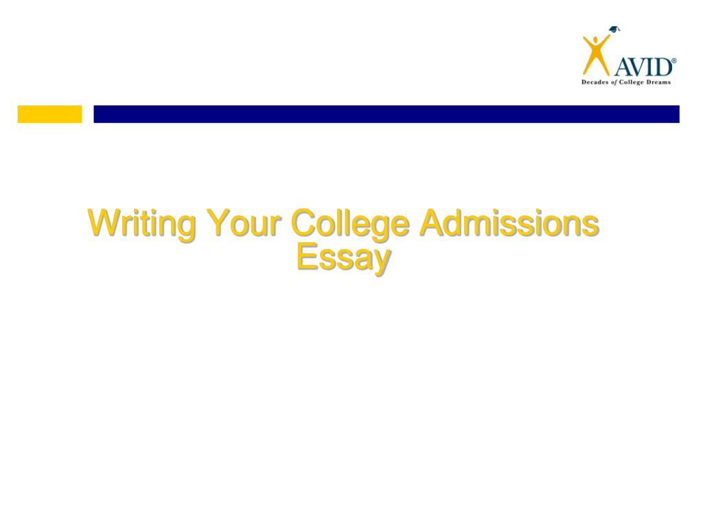 writing a college admissions essay