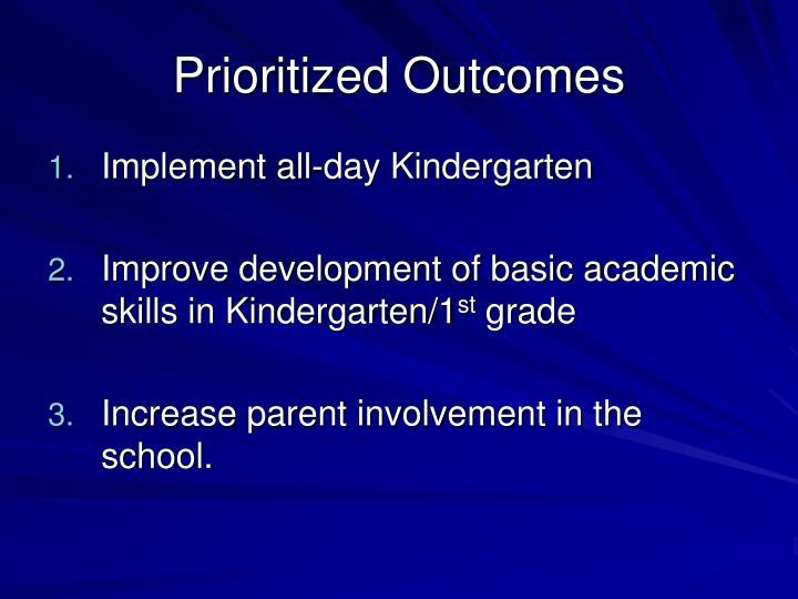 Prioritized Outcomes