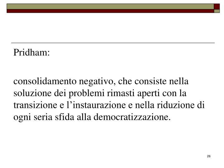 Pridham: