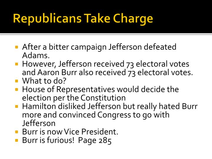 Republicans Take Charge