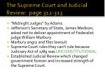 the supreme court and judicial review page 312 313