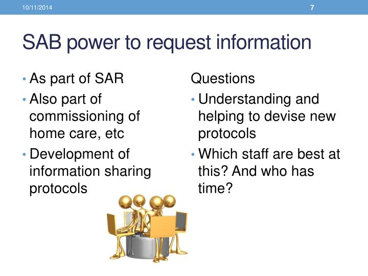 SAB power to request information