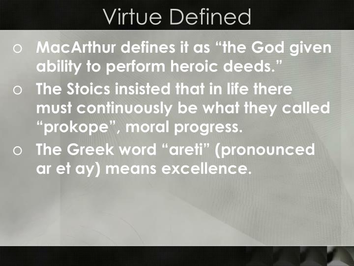 Virtue defined