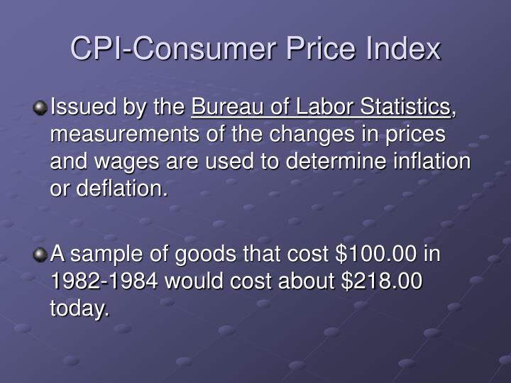 CPI-Consumer Price Index