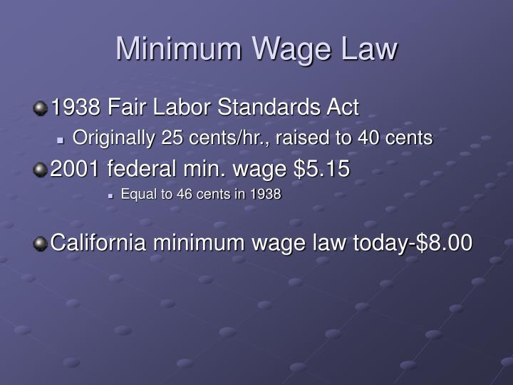Minimum Wage Law