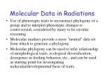 molecular data in radiations1