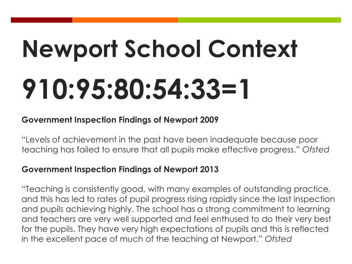 Newport School Context