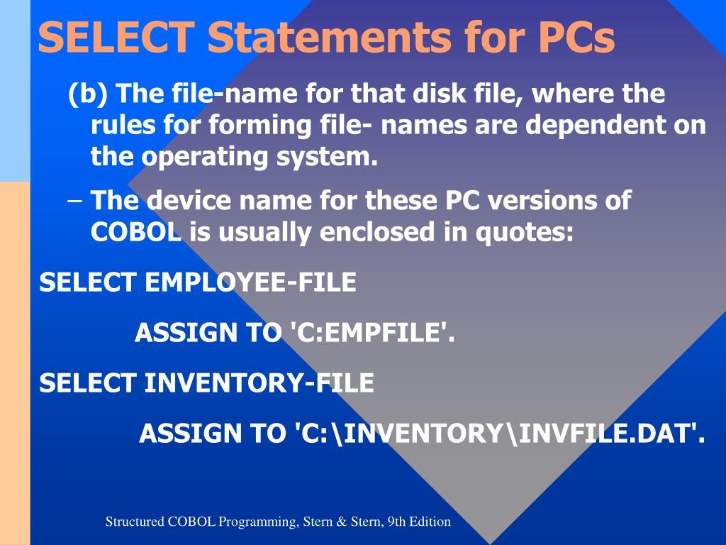 PPT - CHAPTER 2 Cobol Language Fundamentals PowerPoint Presentation