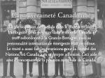 la souverainet canadienne