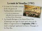 le trait de versailles 1783
