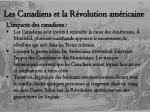 les canadiens et la r volution am ricaine