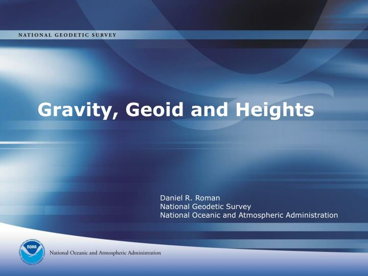gravity geoid and heights n.
