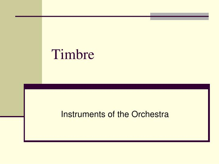 timbre n.