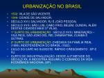 urbaniza o no brasil