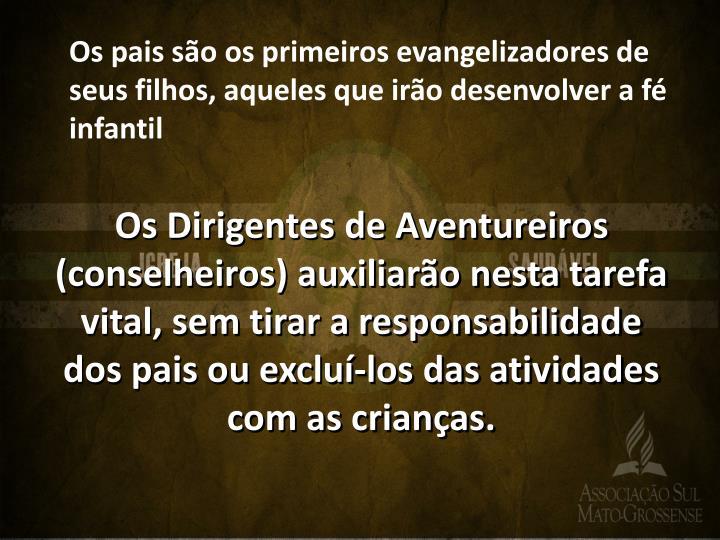 Os pais são os primeiros evangelizadores de seus filhos, aqueles que irão desenvolver a fé infantil