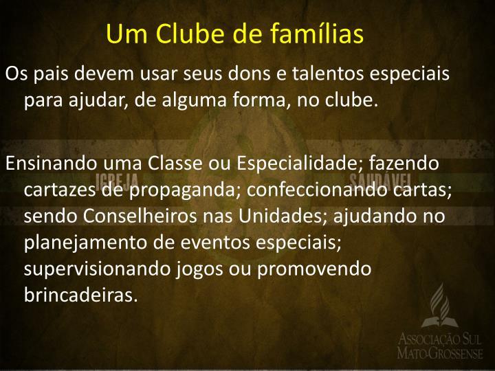 Um Clube de famílias