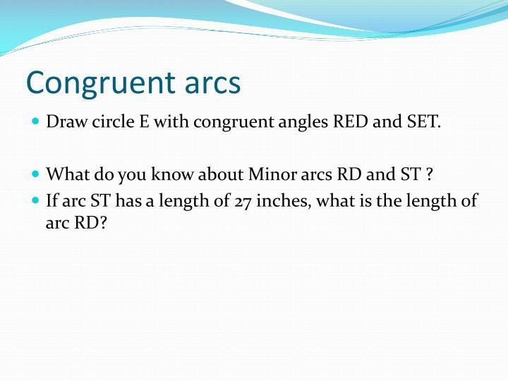 Congruent arcs