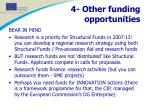 4 other funding opportunities