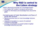 why r d is central to the lisbon strategy