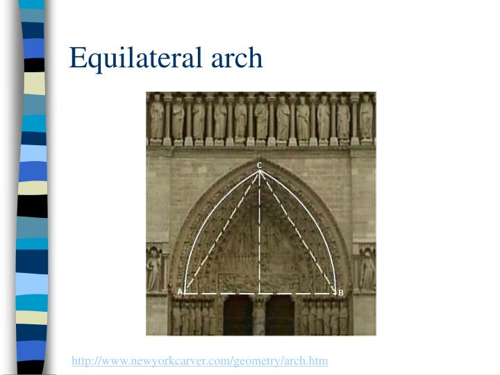 Equilateral arch