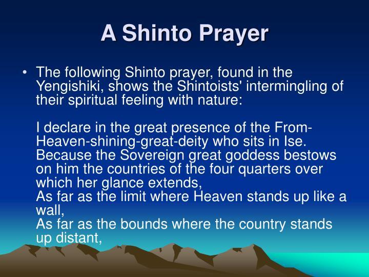A Shinto Prayer