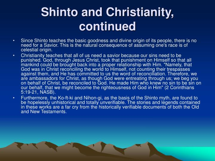 Shinto and Christianity, continued
