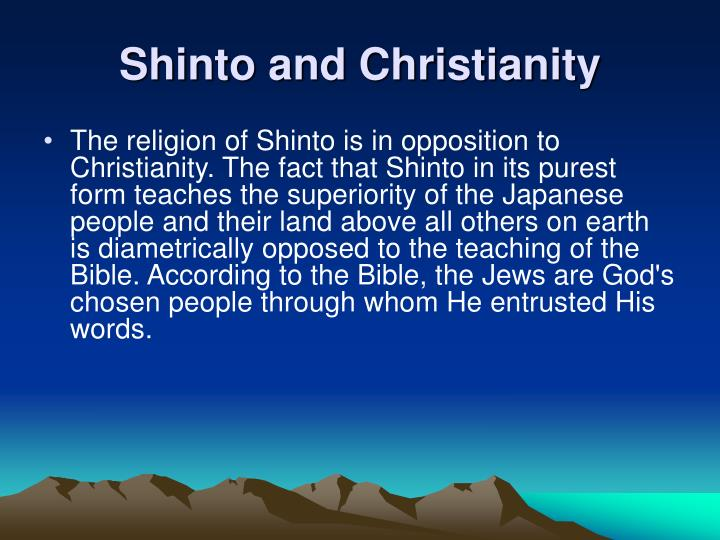 Shinto and Christianity