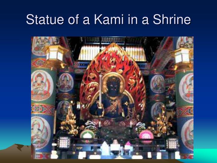 Statue of a Kami in a Shrine