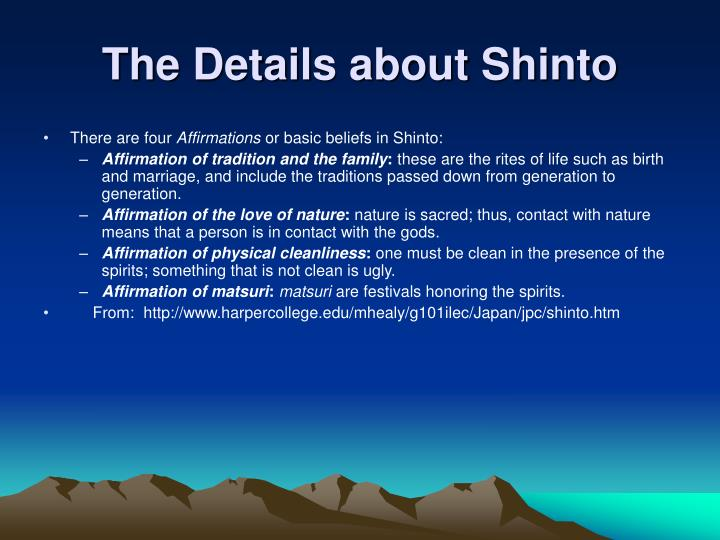 The Details about Shinto