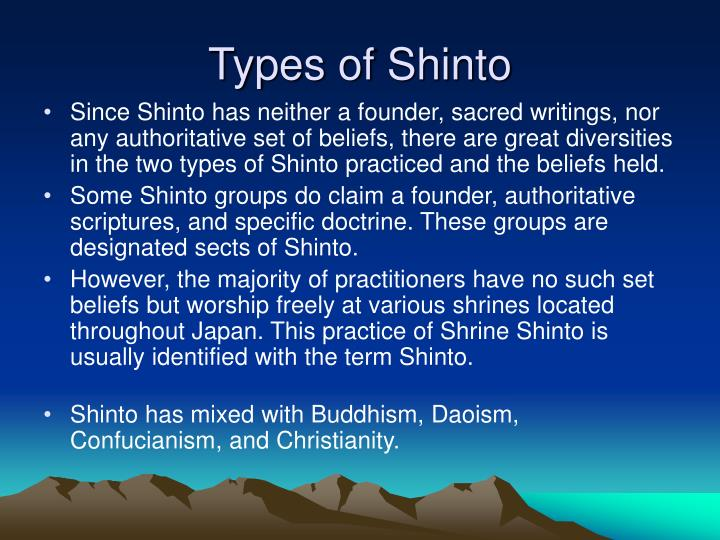 Types of Shinto