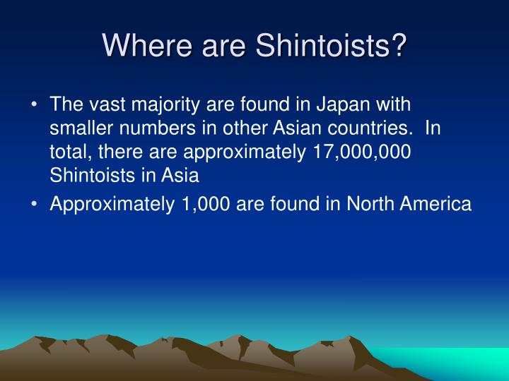 Where are Shintoists?