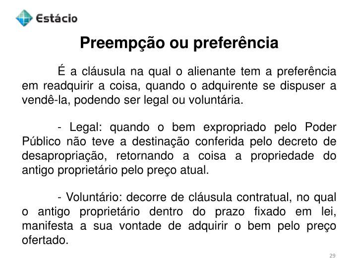 Preempção ou preferência