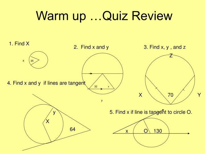 warm up quiz review n.
