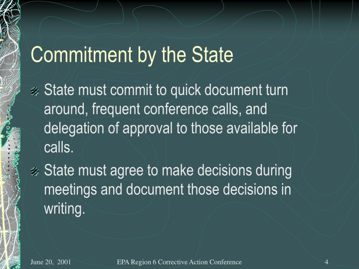 Commitment by the State